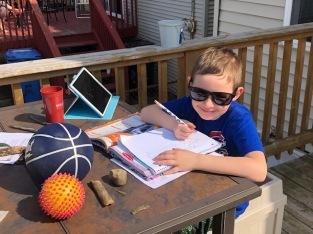 Nolan Learning Outside