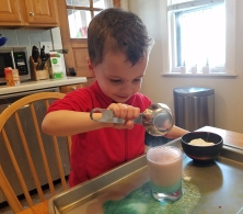V is for volcano science experiment