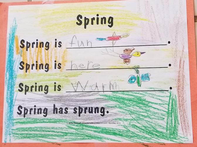 Kindergarten spring